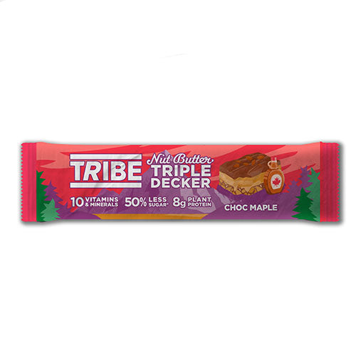 TRIBE Triple Decker Choc Maple Bar 40g   12