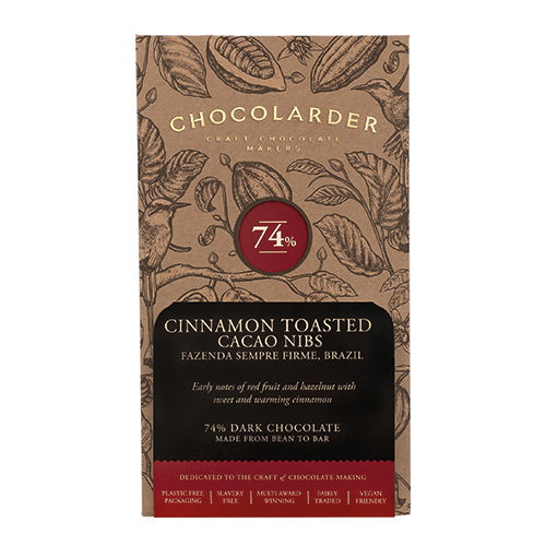 Chocolarder Cinnamon Toasted Cacao Nibs 74% Dark   10