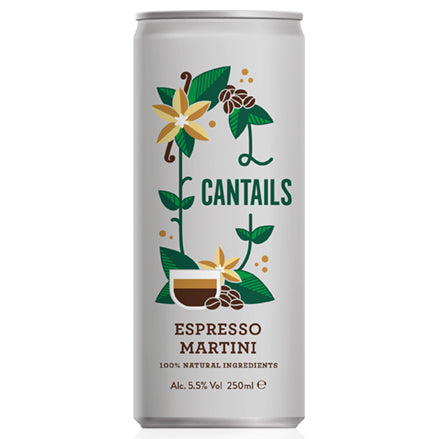 Cantails Espresso Martini 250ml Can   12
