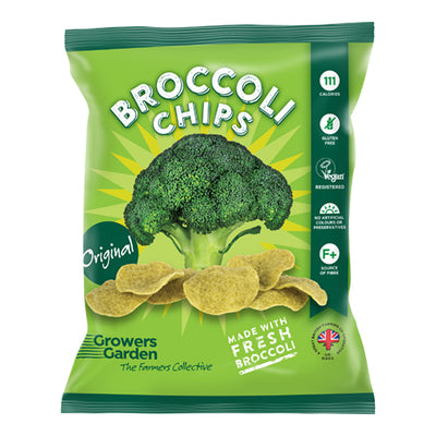 Growers Garden Broccoli Crisps 24g Bag   24