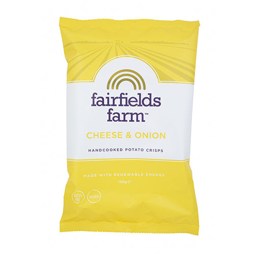 Fairfields Farm Crisps Cheese & Onion Crisps 150g   12