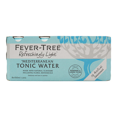 Fever-Tree Refreshingly Light Mediterranean Tonic Water 8x150ml   24