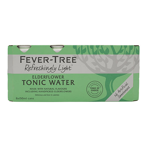 Fever-Tree Refreshingly Light Elderflower Tonic Water 8x150ml   24