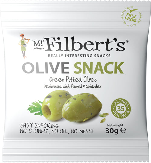 Mr Filberts Pitted Green Olives with Fennel & Coriander 30g   20