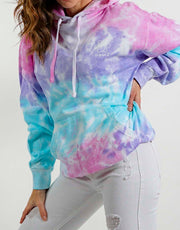 Oversized Cotton Candy Classic Tie Dye Hoodie