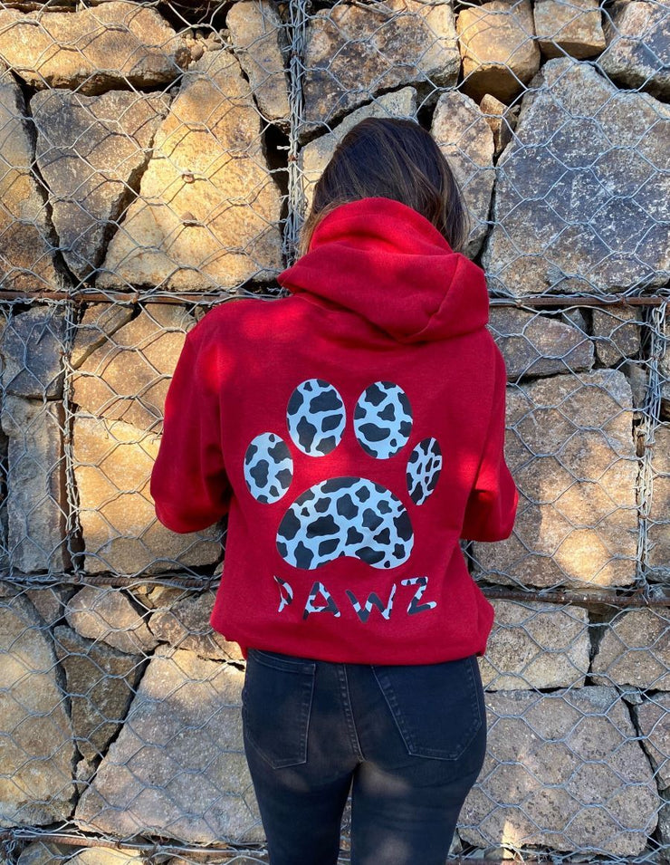 Pawz Antique Cherry Cow Print Hoodie - Pawz