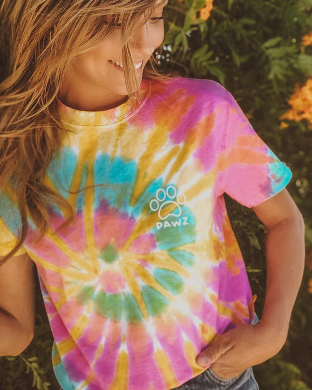 Aurora Tie Dye Open White Swirly t-Shirt