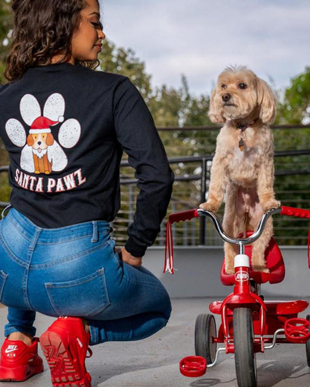 Santa Pawz Black Long Sleeve - Pawz