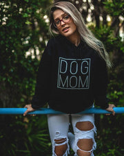 Black Simple Dog Mom Hoodie