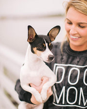 Black Tie Dye Simple Dog Mom Long Sleeve