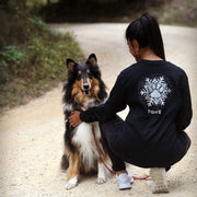 Pawz Silver Snowflake Back Print Black Long Sleeve - Pawz