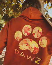 Burnt Orange Fall Leaves Hoodie