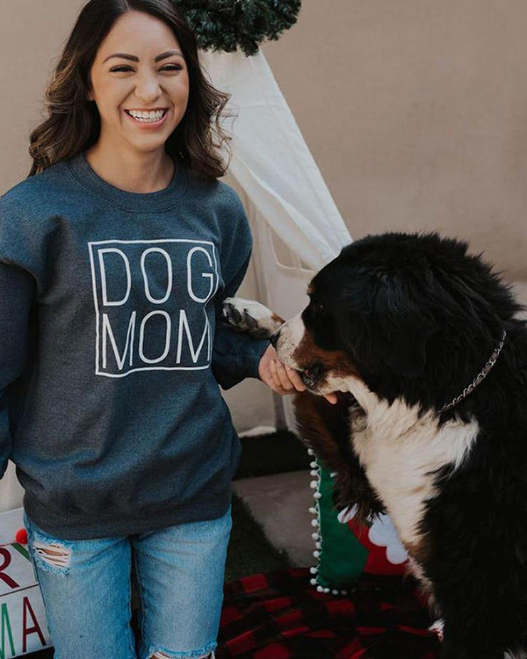 Charcoal Simple Dog Mom Crewneck