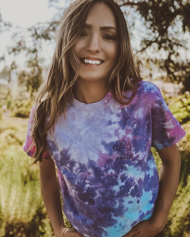 Cotton Candy Tie Dye Black Classic Print t-Shirt