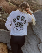 Pawz Cow Print White Lightweight Long Sleeve - Pawz