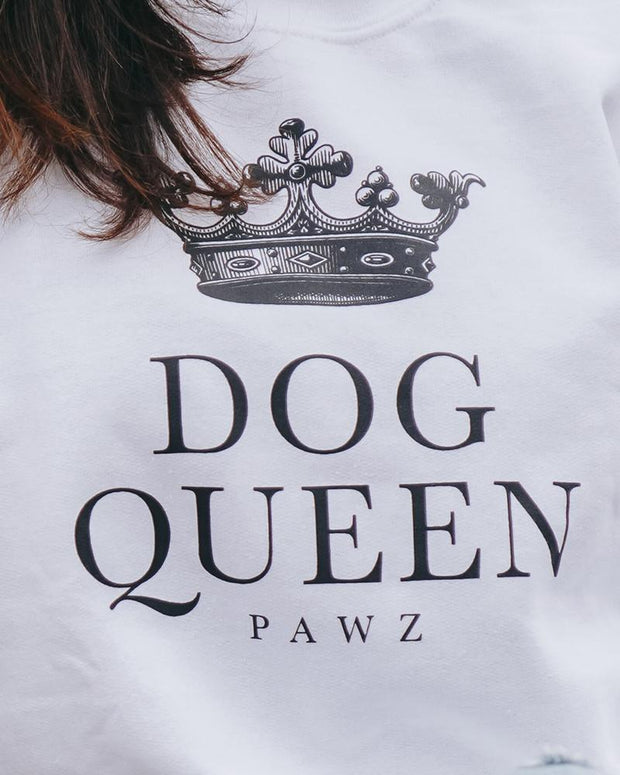 Pawz Dog Queen White Crewneck - Pawz