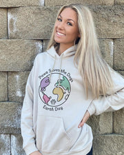 Pawz Earth Day Front Print Sand Hoodie - Pawz