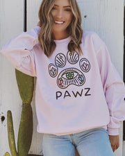Pawz Emerald Iris Light Pink Crewneck - Pawz
