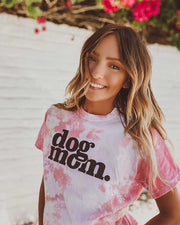 Funnel Cake Tie Dye Dog Mom t-Shirt