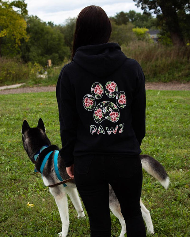 Hooded Black Rose Print