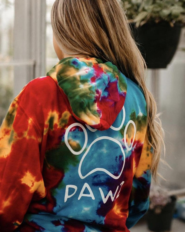 Hooded Celebration Tie Dye Classic Print