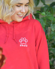 Hooded Red Rose Print