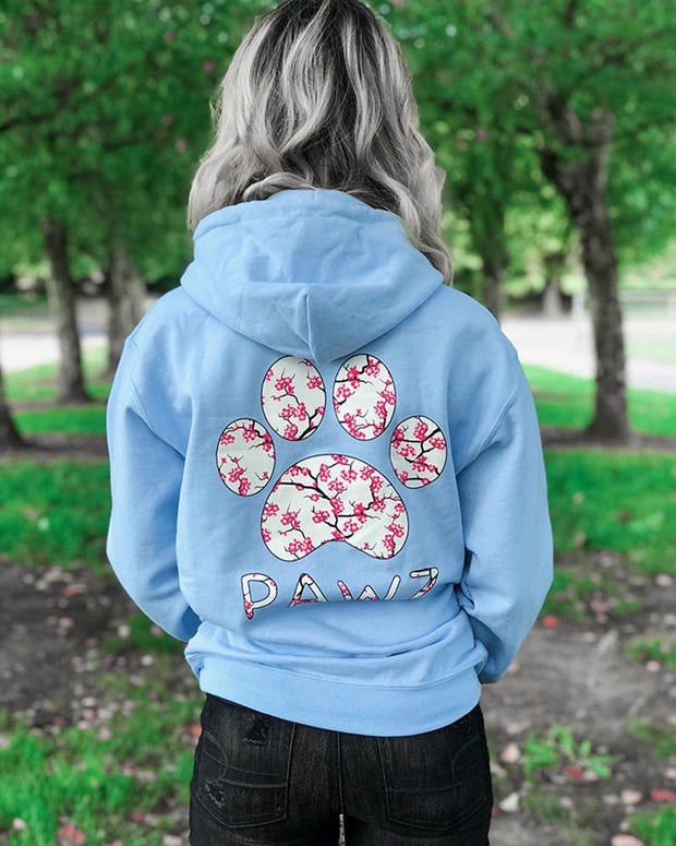 Hooded Sky Cherry Blossom Print