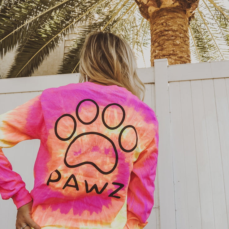 Pink Lemonade Tie Dye Black Classic Print Long Sleeve - Pawz