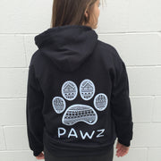Hooded Black Tribal White Print - Pawz