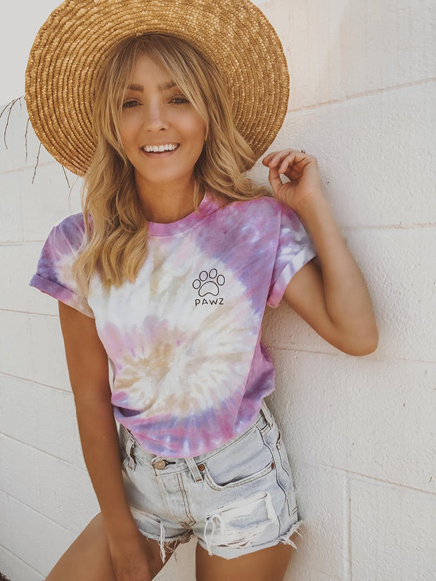 Desert Rose Tie Dye Black Classic Short Sleeve Tee
