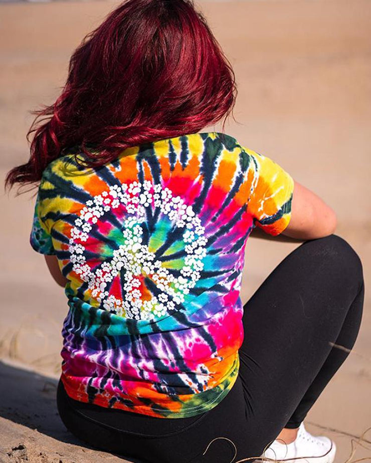 Lava Lamp Tie Dye Peace Sign Print t-Shirt