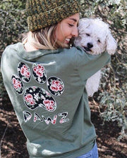 Long Sleeve Olive Rose Print