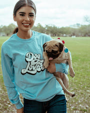 Long Sleeve Sky Dog Lover Front Print