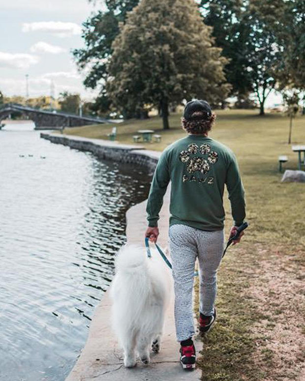 Men's Olive Camo Long Sleeve - Pawz