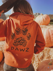 Pawz Batz Burnt Orange Hoodie - Pawz