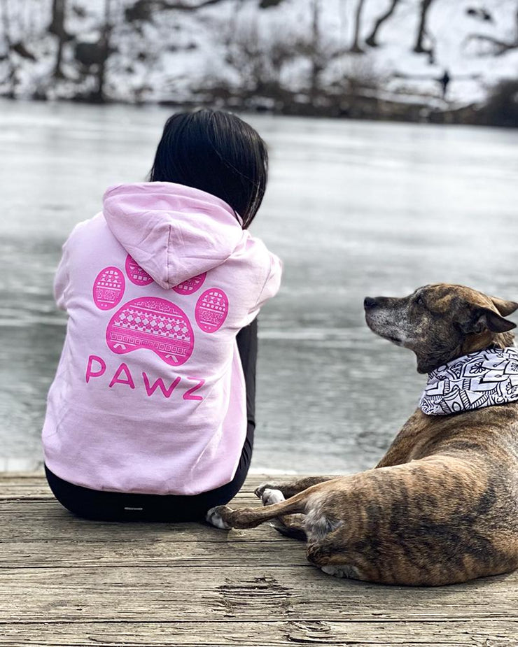 Pawz Pink Tribal Light Pink Hoodie - Pawz