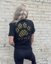 Pawz Golden Hamsa Print Black T-Shirt