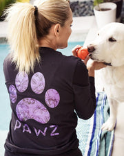 Pawz Amethyst Rose Black Lightweight Long Sleeve - Pawz