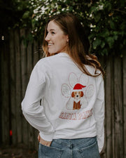 Santa Pawz White Long Sleeve - Pawz