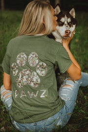 Short Sleeve Olive Camo Shirt - Pawz