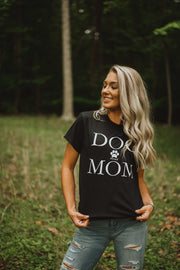 Short Sleeve Black Dog Mom Shirt - Pawz