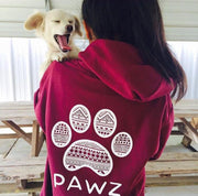 Hooded Maroon White Tribal Print - Pawz