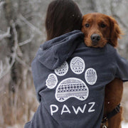 Hooded Charcoal Tribal White Print - Pawz