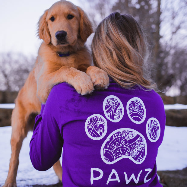 Long Sleeve Purple Floral Print - Pawz