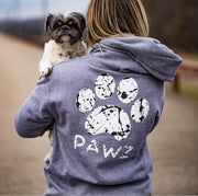 Hooded Gray Splatter Print - Pawz