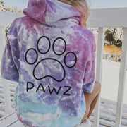 Oversized Cotton Candy Black Classic Tie Dye Hoodie - Pawz