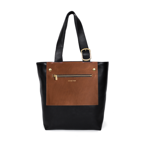 Prospect Tote Tall with Chestnut Lapel