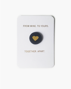 """Together. Apart."" Card and Leather Pin Set"