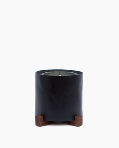 Black Leather Candle Holder with KEAP Candle