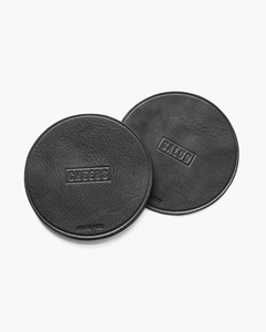 Stamped Leather Coaster Set